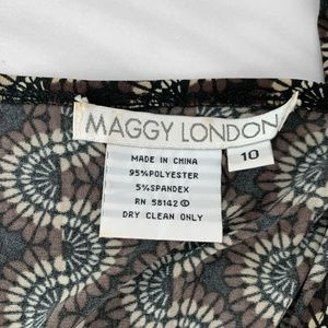 Maggy London Dresses - Maggy London Patterned Wrap Dress